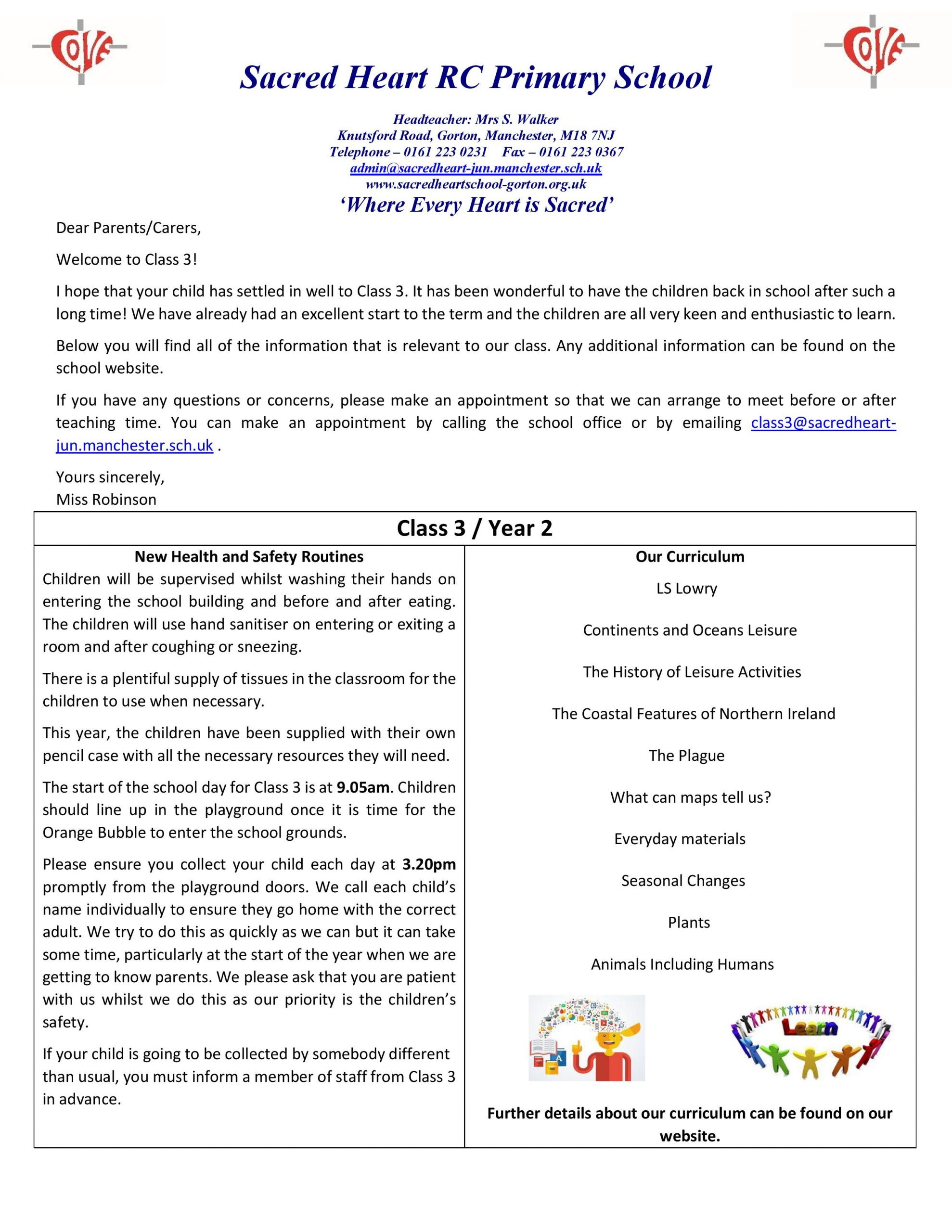 Class 3 Home Learning Guidance